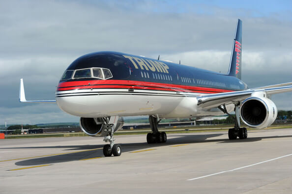 Boeing 757 – Donald Trump – $100+ million Most Luxury and Expensive Private Jets in World