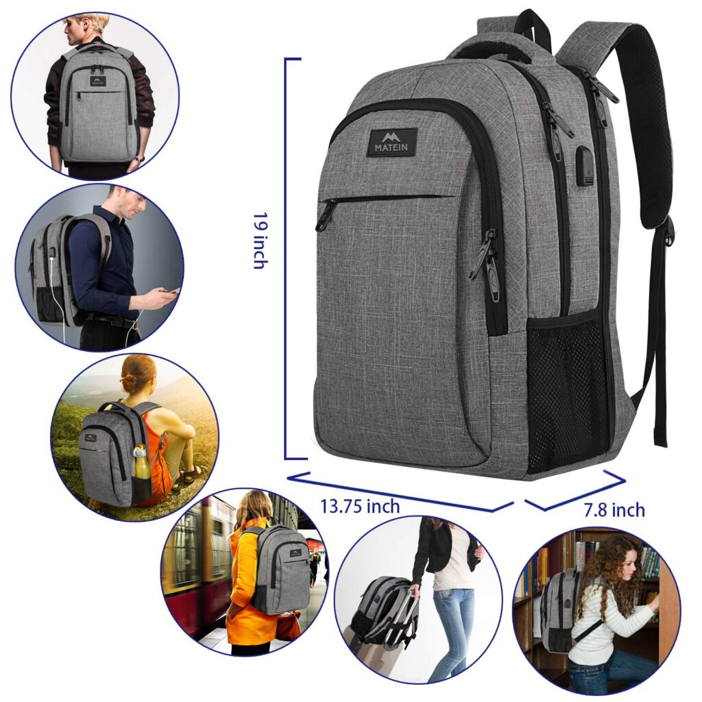 Matein Mlassic Travel Laptop Backpack Best Backpacks with Hidden Pockets